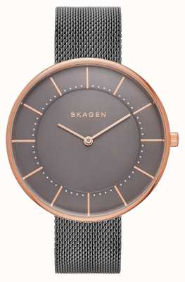 Skagen Womans gitte grey mesh rose gold SKW2584