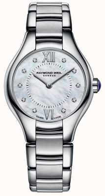Raymond Weil Womans ze stali nierdzewnej 10 diamentowa tarcza z masy perłowej 5124-ST-00985