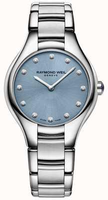 Raymond Weil Wąska niedokrwistość 12 błękit diamentu 5132-ST-50081
