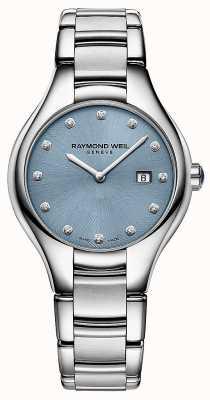 Raymond Weil Womans Noemia 12 diamentowa niebieska tarcza 5132-ST-50081