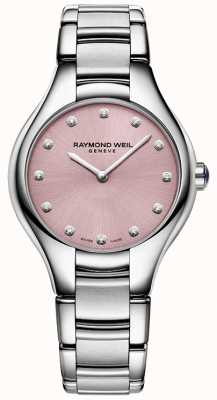 Raymond Weil Niedokrwistość kobieca 12 diamentów różowych 5132-ST-80081