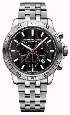 Raymond Weil Mens tango 43mm czarny chronograf ze stali nierdzewnej 8560-ST2-20001
