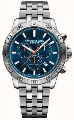 Raymond Weil Męskie tango 43mm niebieskie tarcza chronograf ze stali nierdzewnej 8560-ST2-50001