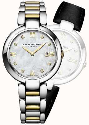 Raymond Weil Womans połysk dwukolorowa kropka diamentowa ze stali nierdzewnej 1600-STP-00995