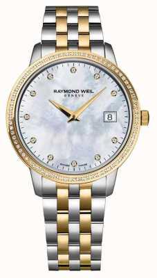 Raymond Weil Womans dwukolorowy diament w kolorze różowego złota 5988-SP5-97081