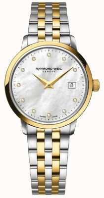 Raymond Weil Womans toccata dwukolorowy złoty diament 5988-STP-97081