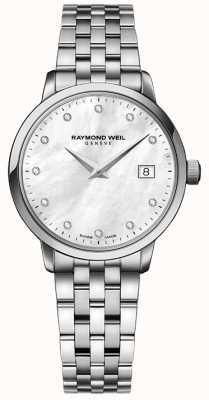 Raymond Weil Womans toccata ze srebrną diamentową kropką ze stali nierdzewnej 5988-ST-97081