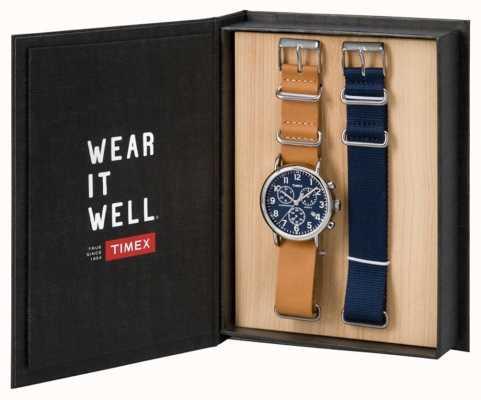 Timex Męski zestaw upominkowy chronograf weekendowy TWG012800