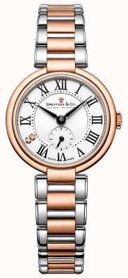 Zegarek damski Dreyfuss z dwukolorowym różowym złotem z 1974 roku DLB00159/01/L