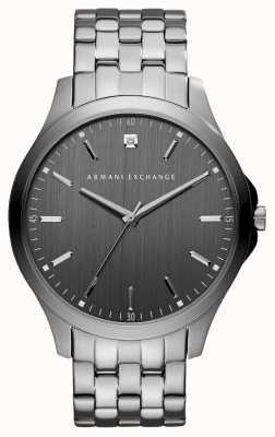 Armani Exchange Męski szary metalowy zegarek ze stali nierdzewnej AX2169