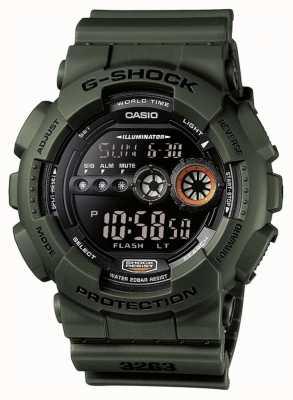 Casio Męskie limitowane wydanie g-shock green GD-100MS-3ER