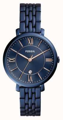 Fossil Damski niebieski zegarek ze stali nierdzewnej ES4094