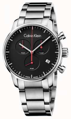 Calvin Klein Męski zegarek z polerowanego chrono K2G27141