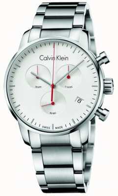 Calvin Klein Męski zegarek ze stali nierdzewnej z chronografem K2G271Z6