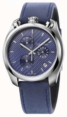 Calvin Klein Męski zegarek kontroli niebieski skórzany niebieski wybierania K6Z371VN