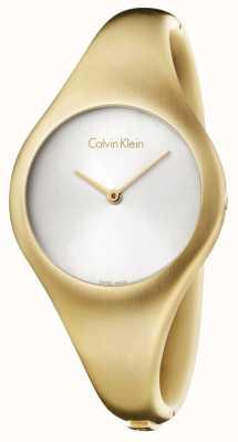Calvin Klein Panie nagi mały złoty zegarek na pvd K7G1S516