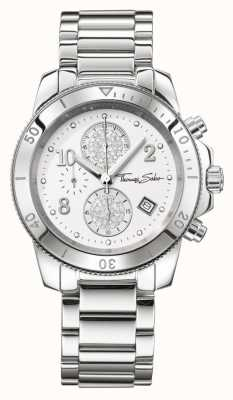 Thomas Sabo Damskie glam chrono chic silver WA0190-201-202-40