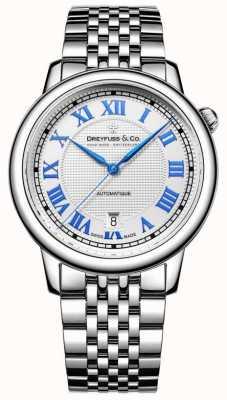 Dreyfuss Męski zegarek ze stali nierdzewnej z 1925 roku DGB00148/01