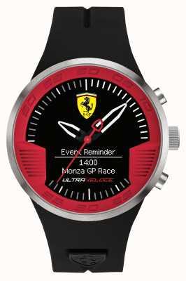 Scuderia Ferrari Męski czarny gumowy pasek czarny czerwony 0830373