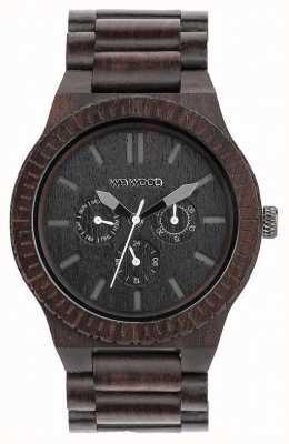 WeWood Męski kappa czarny drewniany czarny pasek 70315300