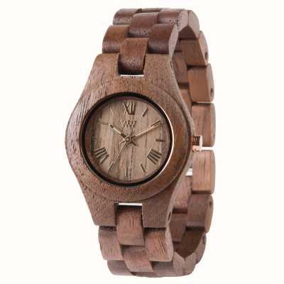WeWood Damski drewniany pasek w kształcie nakrętki 70210700