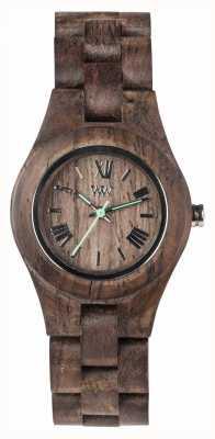 WeWood Damski, szorstki, drewniany pasek w stylu criss choco 70210511