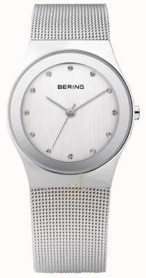 Bering Zegarek z srebrnej siatki womans 12934-000