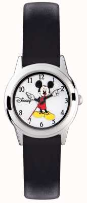 Disney Adult Myszka Mickey z srebrnym etui z czarnym paskiem MK1314
