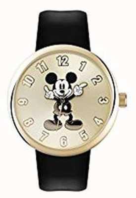 Disney Adult Mickey mouse złoty futerał w czarnym etui MK1443