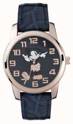 Disney Adult Mickey Mouse różowo-złoty, niebieski pasek MK1456