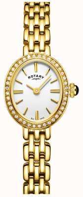 Rotary Womans pozłacany zegarek koktajlowy LB05051/02
