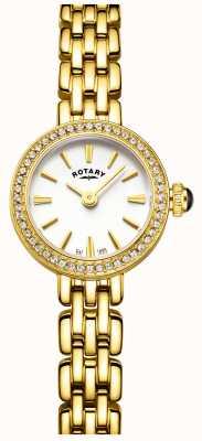 Rotary Womans pozłacany zestaw koktajlowy do zegarków LB05053/02