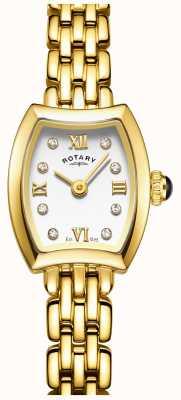 Rotary Womans pozłacany zegarek koktajlowy LB05055/01