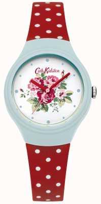 Cath Kidston Damski zegarek z czerwoną polską kropką CKL024UR
