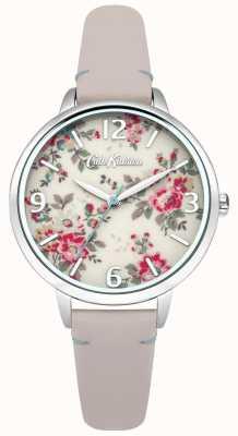 Cath Kidston Damski zegarek ze skóry nagiej królowej róży CKL001PS
