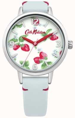 Cath Kidston Zegarek damski z jasnoniebieskiej truskawki CKL006WUS