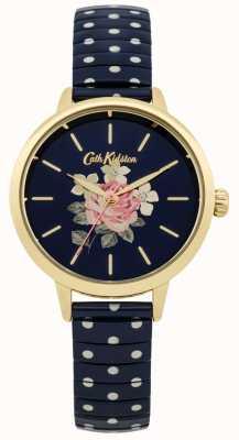 Cath Kidston Granatowy zegarek damski granatowy CKL009UG