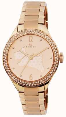 Radley Świetna platerowana różowym złotem bransoletka RY4190