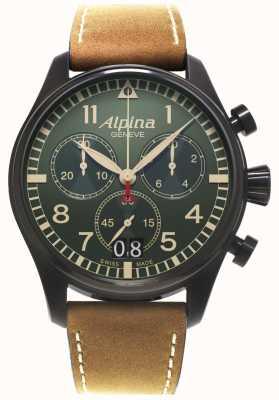 Alpina Męski zegarek kwarcowy chronograf startimeru AL-372GR4FBS6