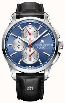 Maurice Lacroix Męski pontos automatyczny chronograf niebieski PT6388-SS001-430-1
