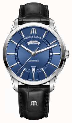 Maurice Lacroix Męskie pontos automatycznie niebieskie PT6358-SS001-430-1