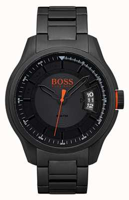 Hugo Boss Orange Hong kong czarny zegarek ze stali nierdzewnej 1550005