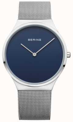Bering Męska klasyczna siatka niebieska tarcza 12138-007