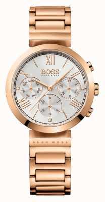 Hugo Boss Damska, klasyczna sportowa bransoleta ze srebra różowego platerowana srebrem 1502399