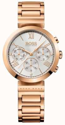 Boss Damska klasyczna bransoletka z pozłacanego różowego srebra 1502399