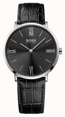 Hugo Boss Męski czarny skórzany pasek marki Jackson 1513369
