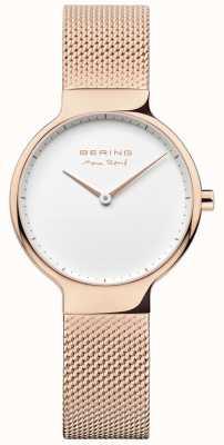 Bering Ladies max rené wymienny pasek z siatki różowe złoto 15531-364
