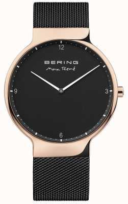 Bering Mens max rené wymienny pasek z siatki czarny 15540-262