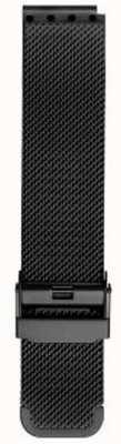 Bering Męski pasek z czarnej siatki w kolorze milanese PT-15540-BMBX