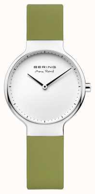 Bering Ladies max René wymienny zielony pasek gumowy 15531-800